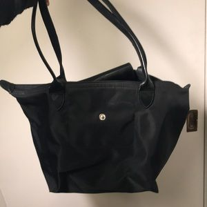 Small Black LongChamp bag with long handles